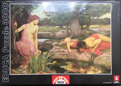 Image of the puzzle 3000, Educa, Echo and Narcissus, by J.W. Waterhouse, Factory Sealed