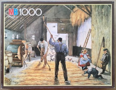 Image of the puzzle 1000, MB, On the Threshing Floor, by Unknown Artist, Picture of the box