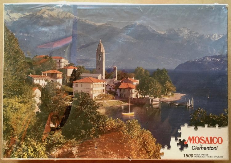 Image of the puzzle 1500, Clementoni, Como Lake, Italy, Factory Sealed, Picture of the box