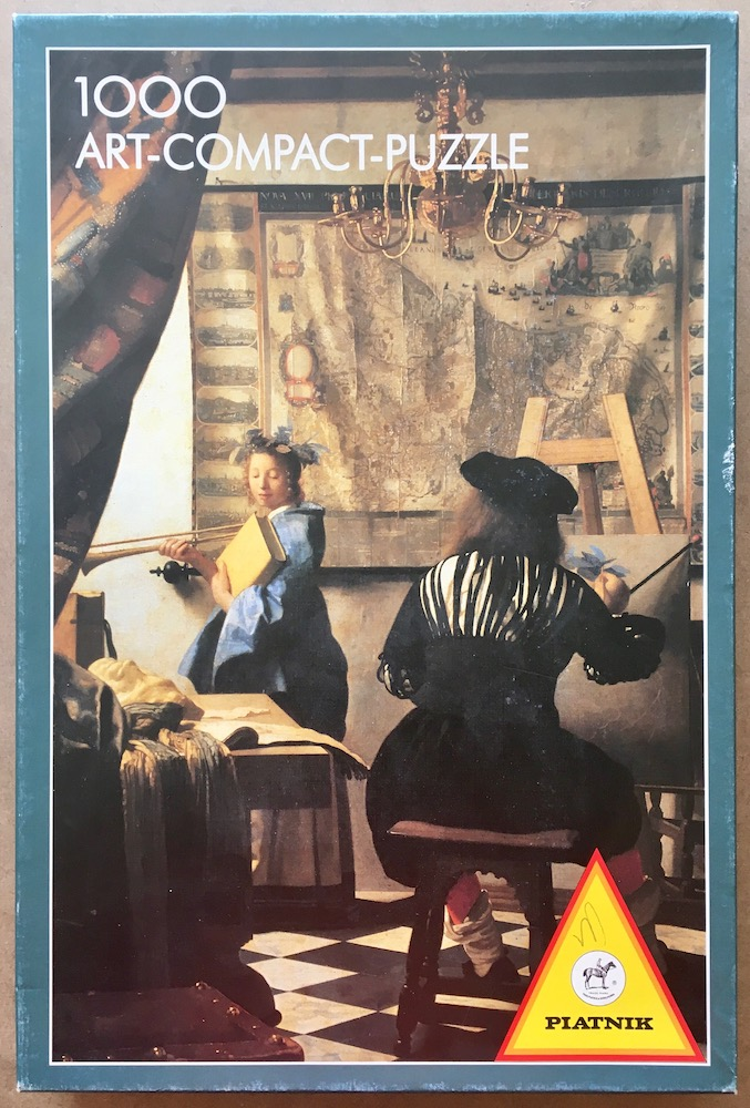 Image of the puzzle 1000, Piatnik, The Art of Painting, by Johannes Vermeer, Complete, Picture of the box