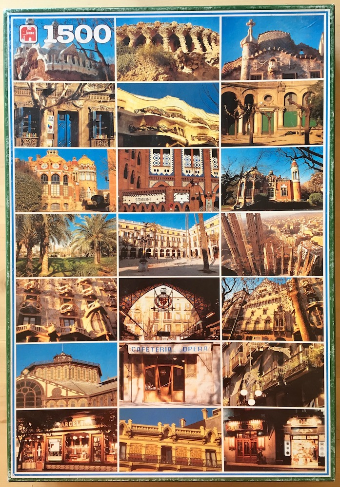 Image of the puzzle 1500, Jumbo, Sides of Barcelona, by Gustav Brauer, Complete, Picture of the box