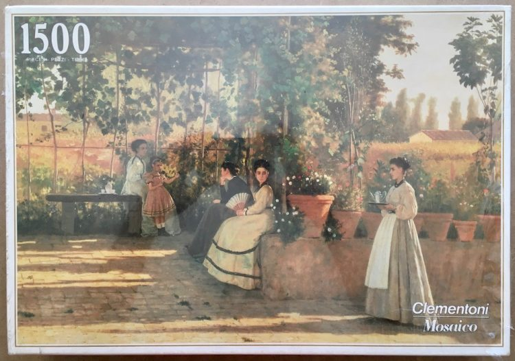 Image of the puzzle 1500, Clementoni, The Arbour, by Silvestro Lega, Factory Sealed