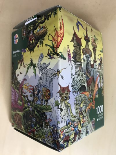 Image of the puzzle 1000, Heye, Battles, by Stefan Theurer, Complete, Picture of the box