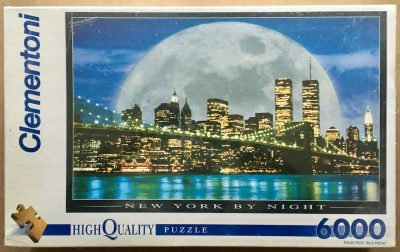 Image of the puzzle 6000, Clementoni, New York by Night, Factory Sealed