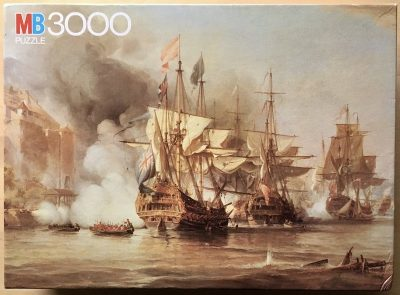 Image of the puzzle 3000, MB, The Capture of Porto Bello, George Chambers, Sealed Bag, Picture of the box