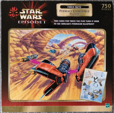 Image of the puzzle 750, Hasbro, Podrace Challenge, Factroy Sealed, Picture of the box