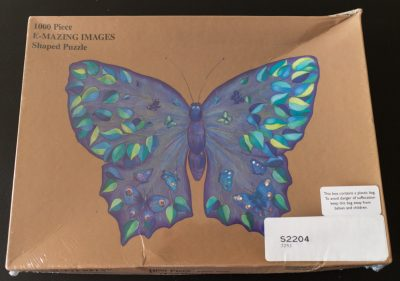 Image of the puzzle 1000, E-Mazing Images, The Butterfly (Shaped Puzzle), Factory Sealed, Picture of the box