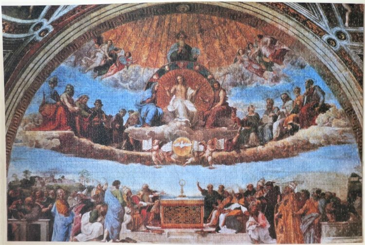 Image of the puzzle 3000, Ravensburger, Fresco of the Triumph of Religion, by Raphael, Complete, Picture of the puzzle assembled
