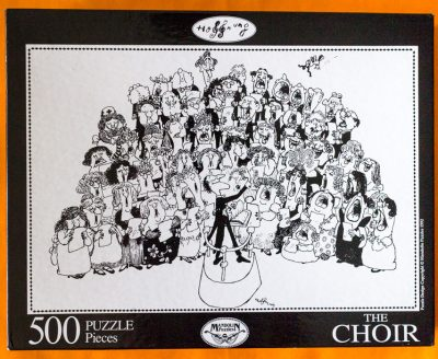 Image of the puzzle 500, Mandolin, The Choir, by Gerard Hoffnung, Factory Sealed, Picture of the box
