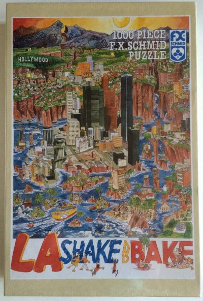 Image of the puzzle 1000, F. X. Schmid, LA Shake and Bake, by John Holladay, Factory Sealed, Picture of the box