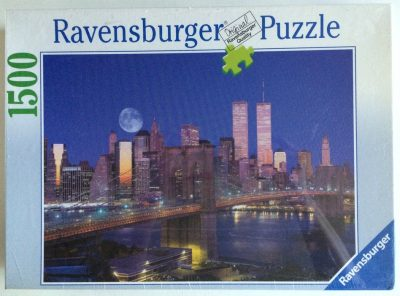Image of the puzzle 1500, Ravensburger, Manhattan Skyline, Factory Sealed, Picture of the box