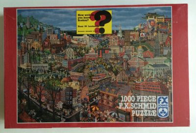 Image of the puzzle 1000, F. X. Schmid, The Best of Boston, by Kemon Sermos, Factory Sealed, Picture of the box