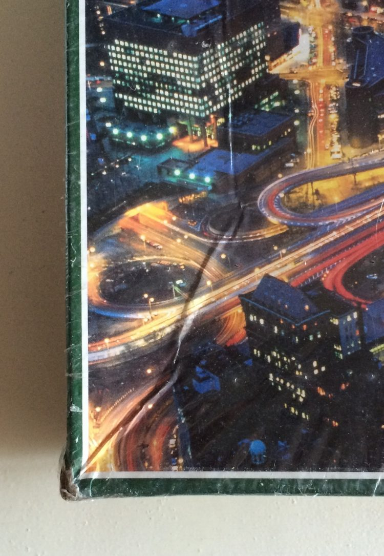 Image of the puzzle 1500, Jumbo, New York Lights, Factory Sealed, Detail of the box