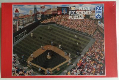 Image of the puzzle 1000, F. X. Schmid, Fenway Park, by Kemon Sermos, Picture of the box