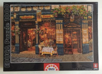 Image of the puzzle 1000, Educa, London for Two, by Viktor Shvaiko, Factory Sealed, Picture of the box