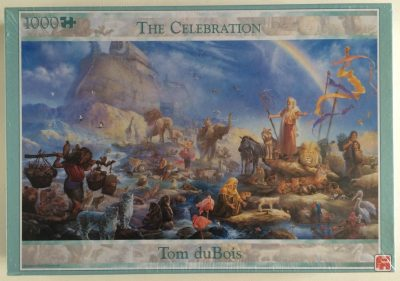 Image of the puzzle Image of the puzzle 1000, Jumbo, The Celebration, by Tom duBois, Factory Sealed, Picture of the box