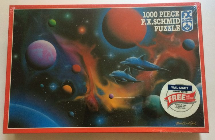 Image of the puzzle 1000, F. X. Schmid, Ocean Fire, by Michael David Ward, Factory Sealed, Picture of the box