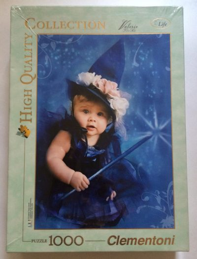Image of the puzzle 1000, Clementoni, Blue Witch, by Valerie Tabor Smith, Factory Sealed, Picture of the box