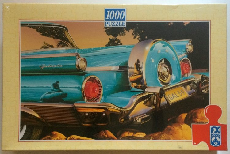 Image of the puzzle 1000, F.X. Schmid, Ford Galaxie, by Graham Reyolds, Factory Sealed