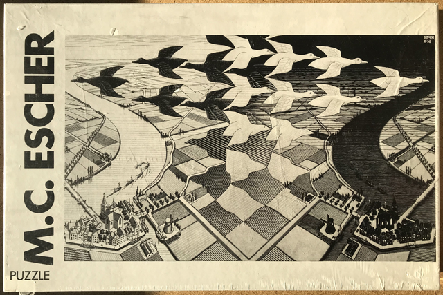 Image of the puzzle 1000, Selegiochi, Day and Night, by Maurits Cornelis Escher, Factory Sealed