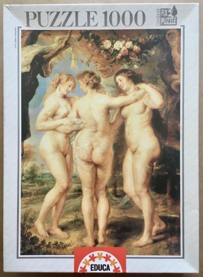 Image of the puzzle 1000, Educa, The Three Graces, by Peter Paul Rubens, Sealed Bag, Picture of the box