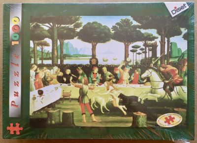 Image of the puzzle 1000, Diset, The Story of Nastaglio, by Sandro Botticelli, Factory Sealed