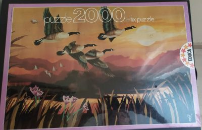 Image of the puzzle 2000, Educa, Migratory Flight, by René Fumeron, Factory Sealed
