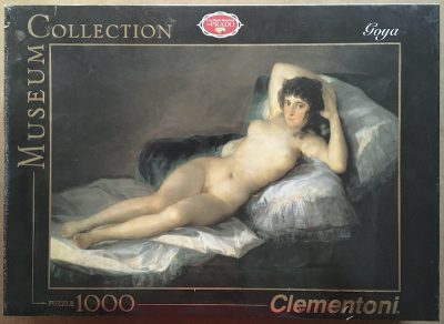 Image of the puzzle 1000, Clementoni, The Nude Maja, by Francisco de Goya, Factory Sealed