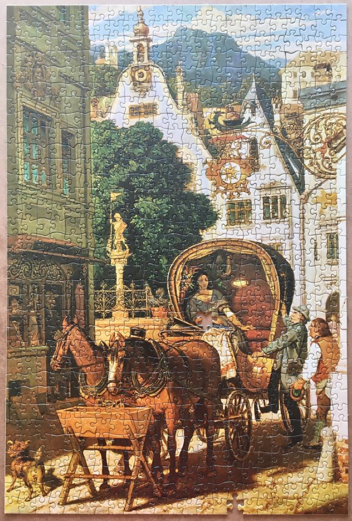 Image of the puzzle 750, Ravensburger, The Wedding Tour, by Moritz von Schwind, Picture of the box