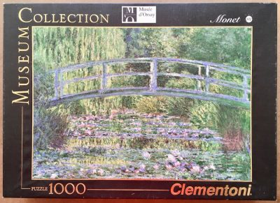 Image of the puzzle 1000, Clementoni, The Water Lily Pond, by Claude Monet, Complete, Picture of the box
