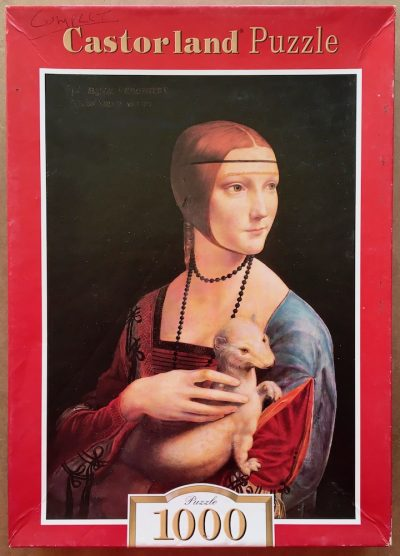 Image of the puzzle 1000, Castorland, Lady with the Ermine, by Leonardo da Vinci, Complete, Picture of the box