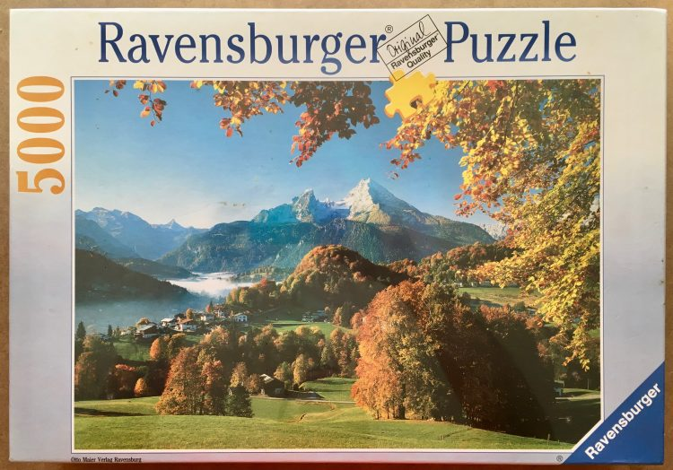 Image of the puzzle 5000, Ravensburger, Mount Watzmann over Berchtesgaden, Factory Sealed