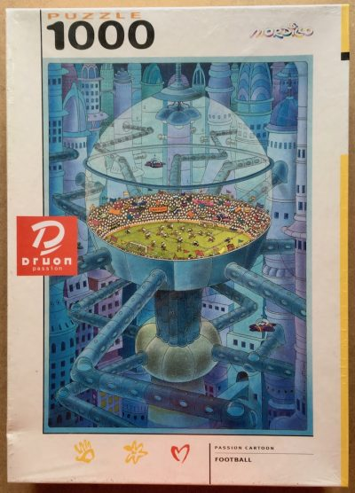 Image of the puzzle 1000, Druon, Football, by Guillermo Mordillo, Factory Sealed