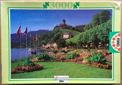 Image of the puzzle 3000, Educa, View of Cochem, Germany, Complete, Picture of the box