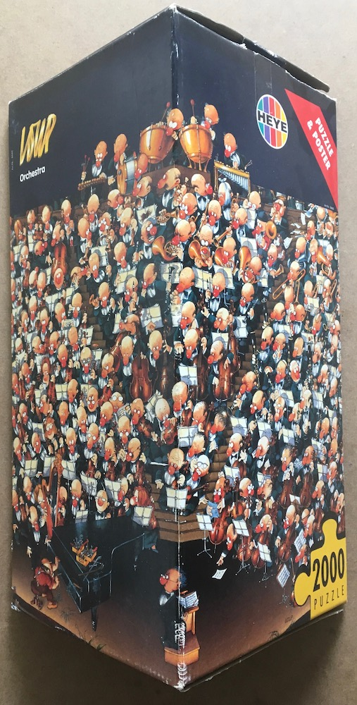 Image of the puzzle 2000, Heye, Orchestra, by Jean-Jacques Loup, Sealed Bag, Picture of the box