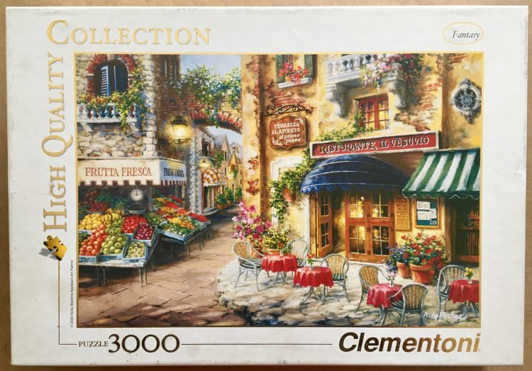 Image of the puzzle 3000, Clementoni, Buon Appetito, by Nicky Boehme, Complete, Picture of the box