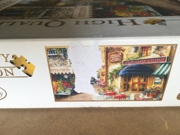Image of the puzzle 3000, Clementoni, Buon Appetito, by Nicky Boehme, Complete, Detail of the box