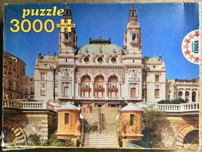 Image of the puzzle 3000, Educa, Montecarlo Casino, Monaco, Complete, Picture of the box