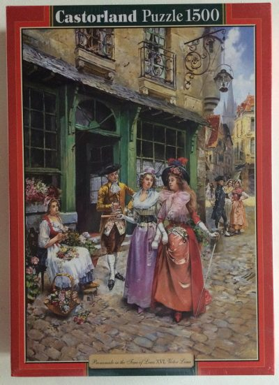 Image of the puzzle 1500, Castorland, Promenade in the Time of Louis XVI, by Henri Victor Lesur, Factory Sealed, Listed by Olga1500, Castorland, Promenade in the Time of Louis XVI, by Henri Victor Lesur, Factory Sealed, Listed by Olga