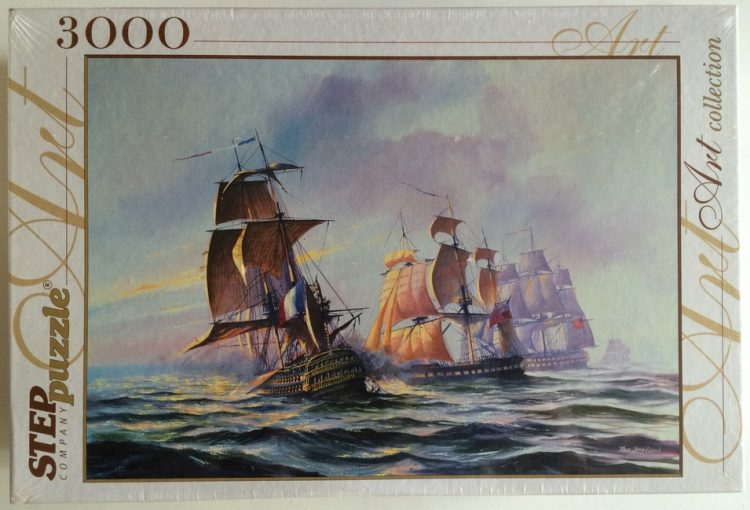 Image of the puzzle 3000, Step, Sea battle, Factory Sealed, Picture of the box