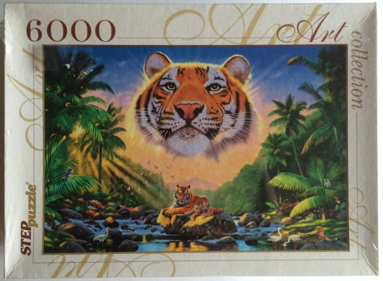 Image of the puzzle 6000, Step, The Majestic Tiger, Factory Sealed, Picture of the box
