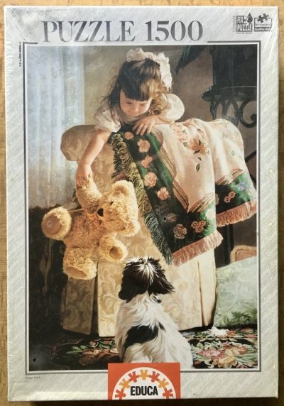 Image of the puzzle 1500, Educa, Puppy Love, by Jean Monti, Factory Sealed