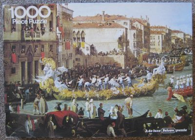 Image of the puzzle 1000, Falcon, Carnival, by Canaletto, Complete, Picture of the box