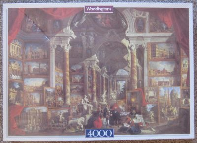 Image of the puzzle 4000, Waddingtons, Views of Modern Rome, by Giovanni Paolo Panini, Factory Sealed, Picture of the box