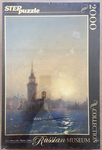 Image of the puzzle 2000, Step, View of the Leander Tower in Constantinople, Ivan Aivazovsky, Factory Sealed