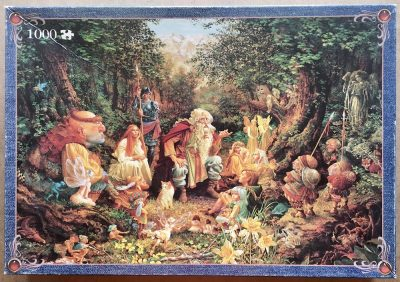 Image of the puzzle 1000, Jumbo, Once Upon a Time, by James Christensen, Complete, Picture of the box