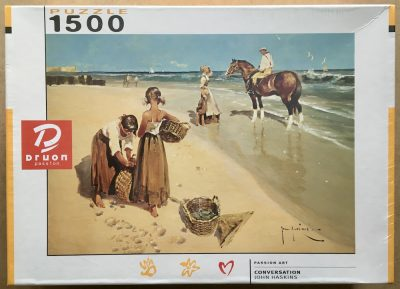 Image of the puzzle 1500, Druon, Conversation, by John Haskins, Factory Sealed
