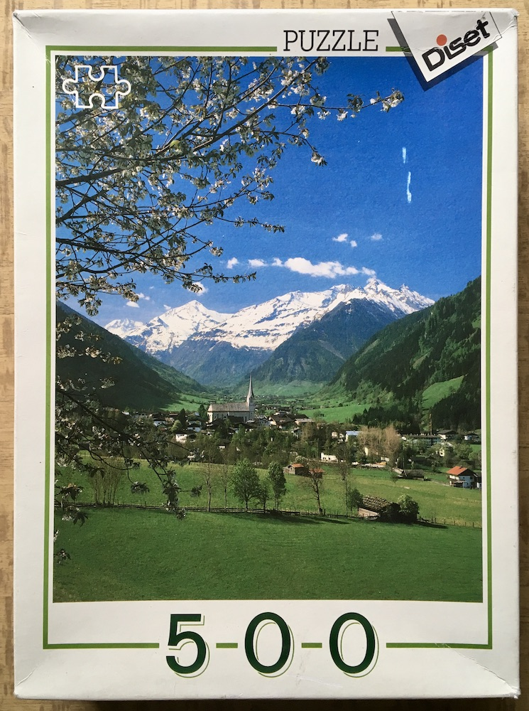 Image of the puzzle 500, Diset, Rauris, Austria, Complete, Picture of the box