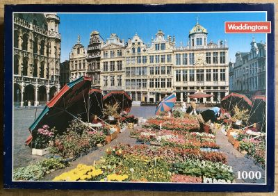 Image of the puzzle 1000, Waddingtons, Brussels, Belgium, Complete, Picture of the box