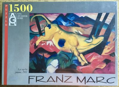 Image of the puzzle 1500, Ricordi, The Yellow Cow, by Franz Marc, Factory Sealed